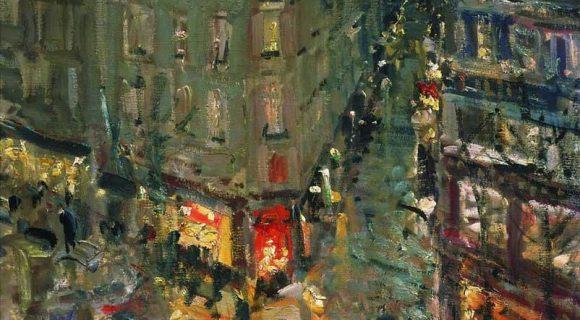 Коровин. Париж ночью