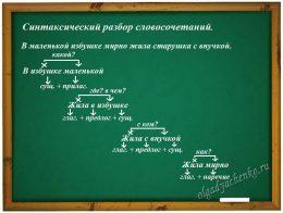 Синтаксический разбор словосочетаний